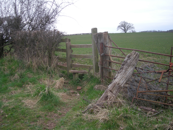 Stile near Linley Brook