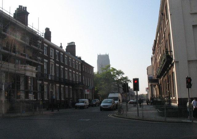 View south along Rodney Street