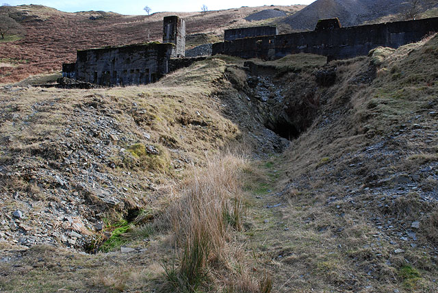 Remains of Bwlch Glas mine