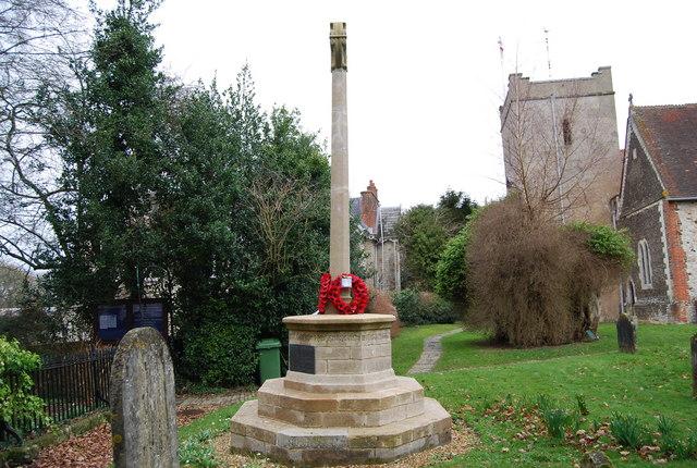 War Memorial, St Mary's Church, Selborne