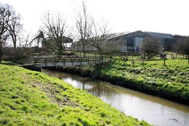 Footbridge Over River Cocker