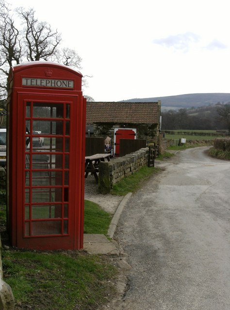 Phone box at Church Houses