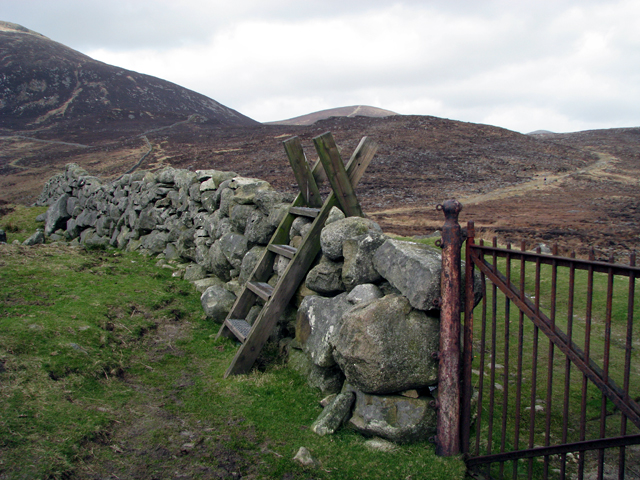 Stile and gate on the Mourne Wall