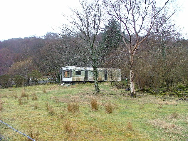 Dilapidated caravan