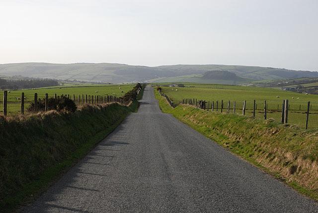 Minor road on Banc Troedrhiwseiri