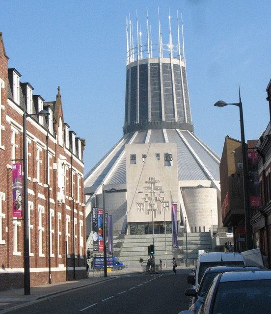 The northern end of Hope Street and the Metropolitan Cathedral of Christ the King