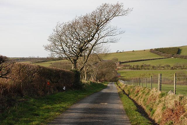 Minor road south of Elgar farm