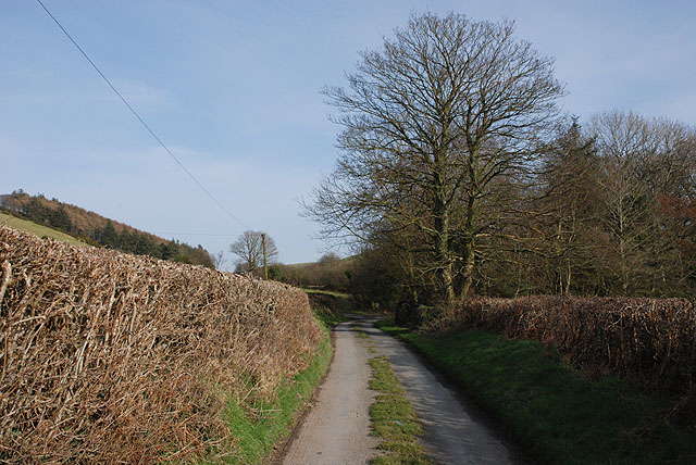 Minor road past Elgar farm