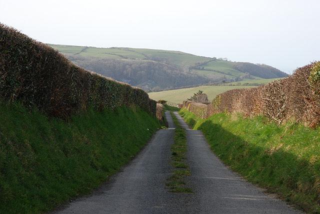 Minor road to Rhydypennau