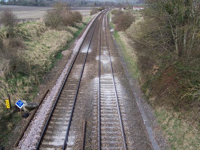Railway line near Norton Bavant