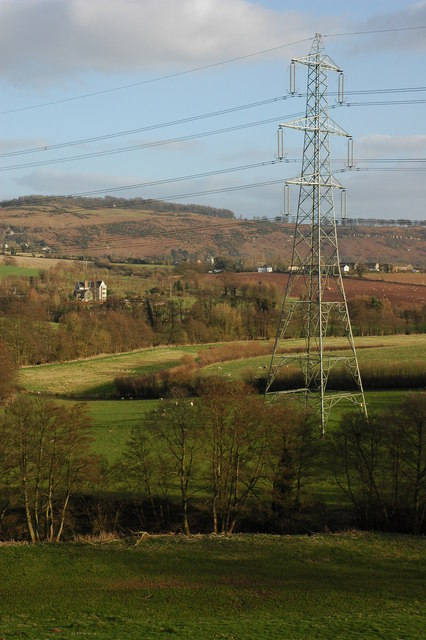 Pylon and power cables at Marstow