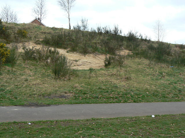 Sandy bank at Sandy Banks