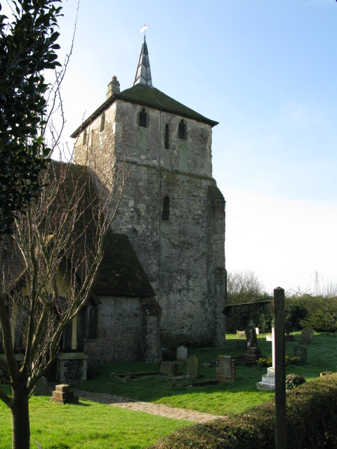 The tower of Ruckinge church