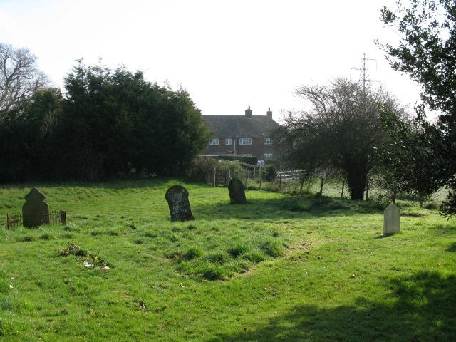 The SE corner of Ruckinge churchyard
