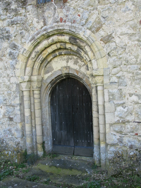 Detail of doorway in the tower, St Mary Magdalene's