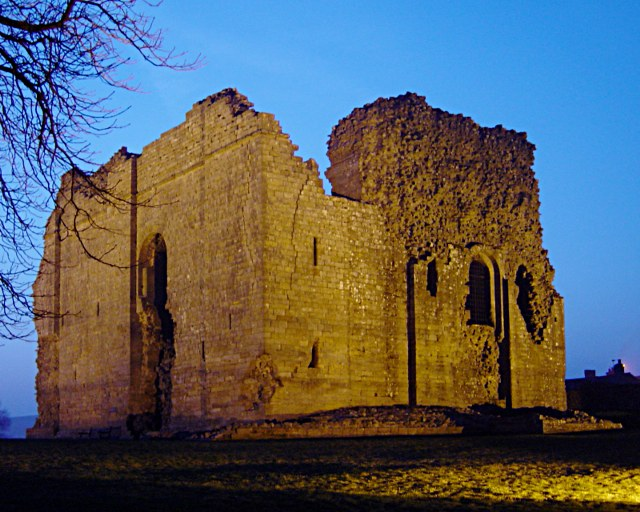 Bowes Castle by night