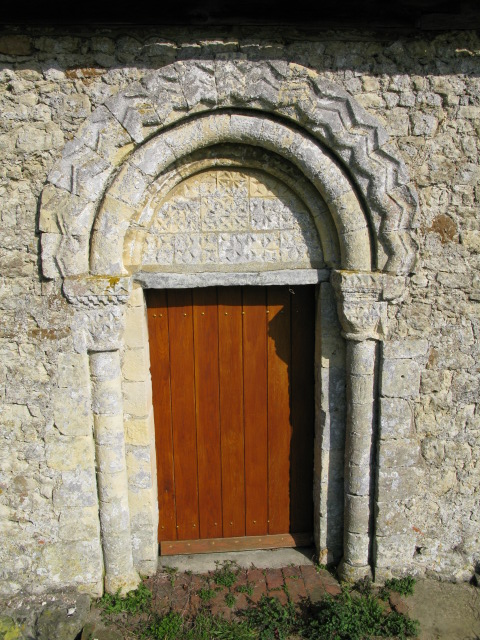 Doorway in south wall, St Mary Magdalene's