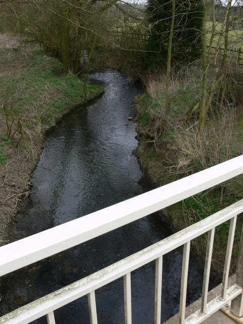 Gaddesby Brook from Ashby Road bridge