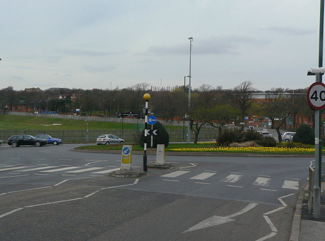 Roundabout at Valley Road