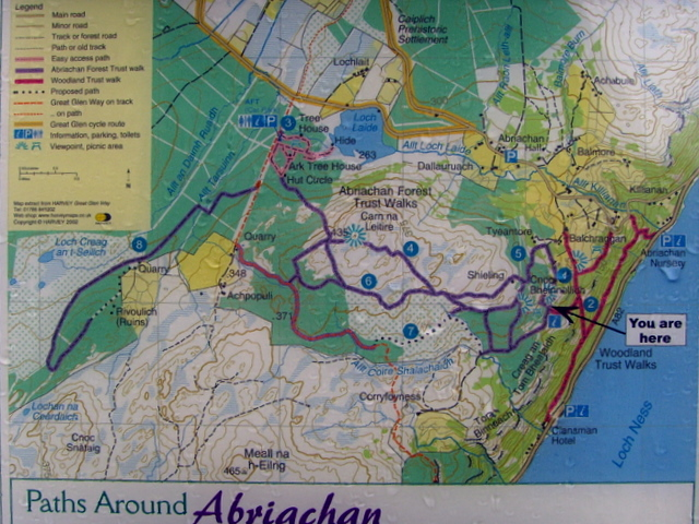 A helpful pathside map!