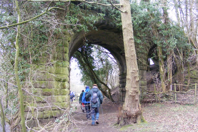 Remains of former railway bridge over the Nidd river