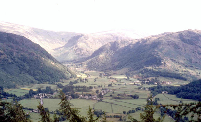 The Stonethwaite Valley from High Spy