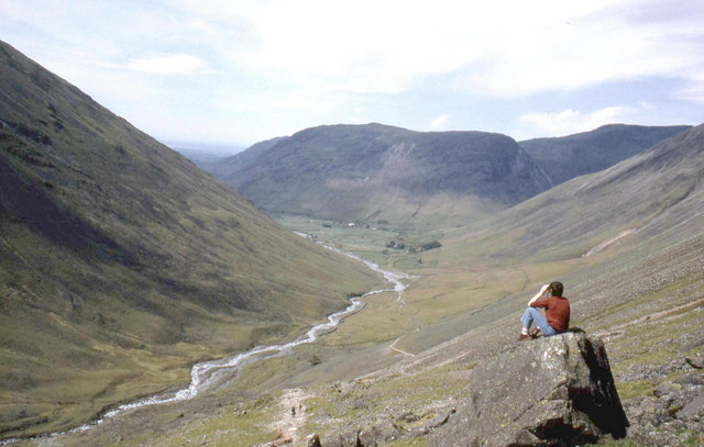 The head of the Wasdale valley from the path to Sty Head