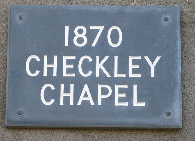 Date stone, Checkley Mission Chapel