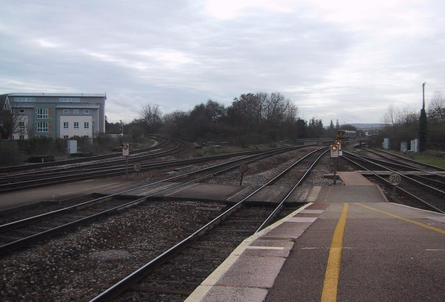 Looking South from Exeter St David's Station