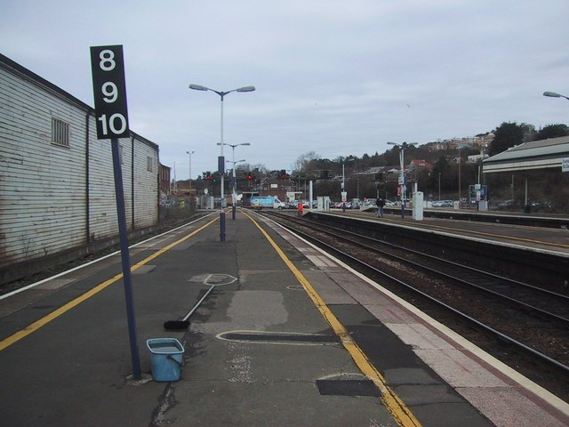 Looking north from Exeter St David's Station