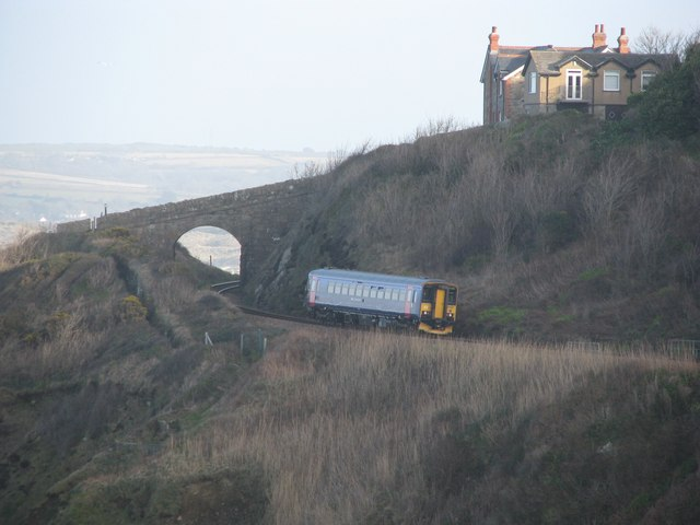 The St Ives train goes back towards Carbis Bay