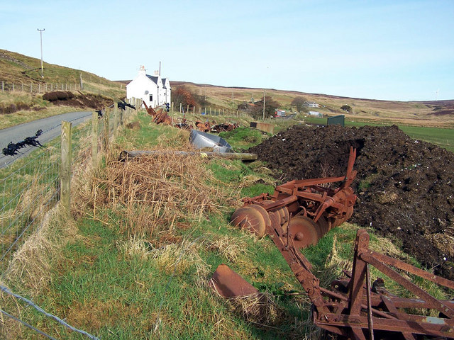 Disused farm machinery