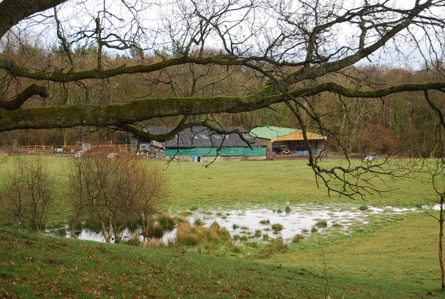 A Barn & a Boggy Hollow by the Hangers Way