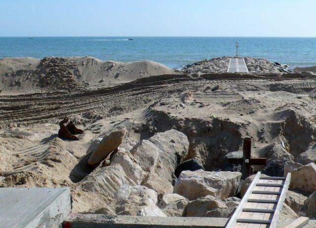 Beach Stabilization Work