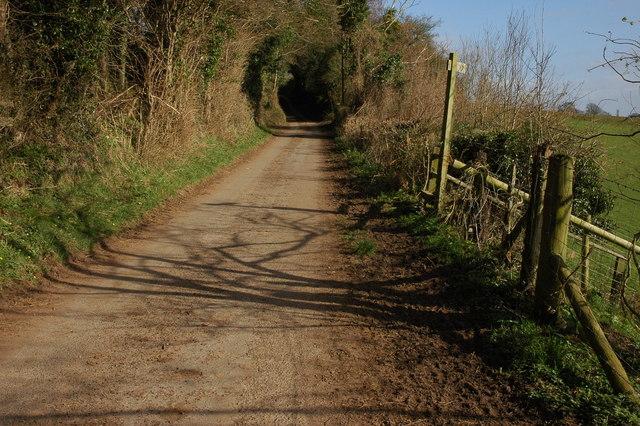 Footpath sign, near Llangrove
