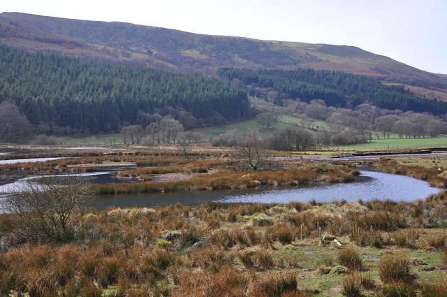 The head of Talybont Reservoir