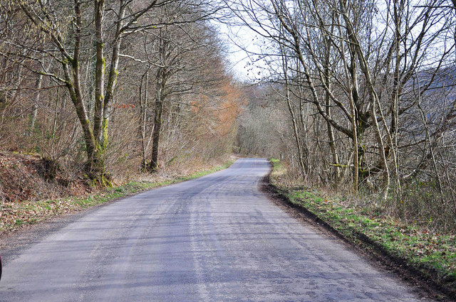 The road to Talybont on Usk