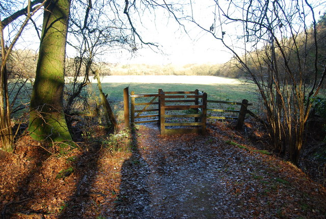Stile on Hangers Way as it leaves Hartley Wood