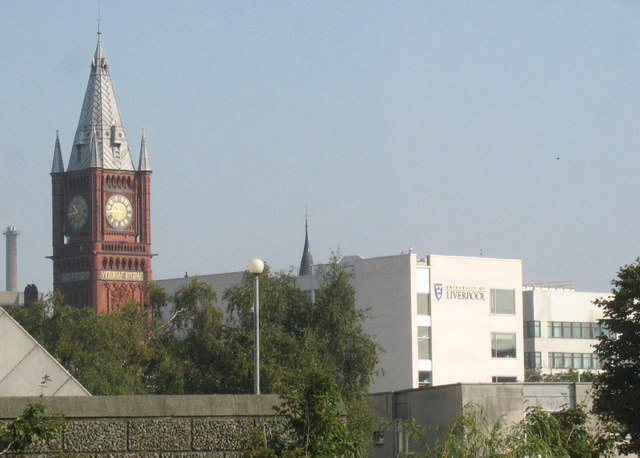 The clock tower of Liverpool University