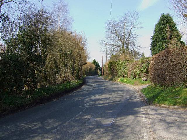 View towards Markall Close at New Cheriton