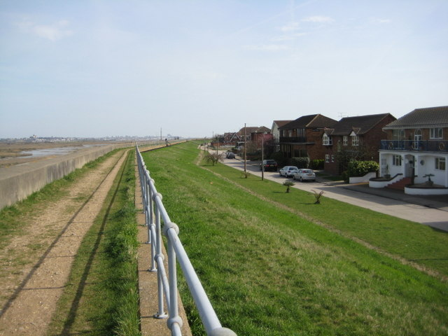 Sea wall along Kellington Road