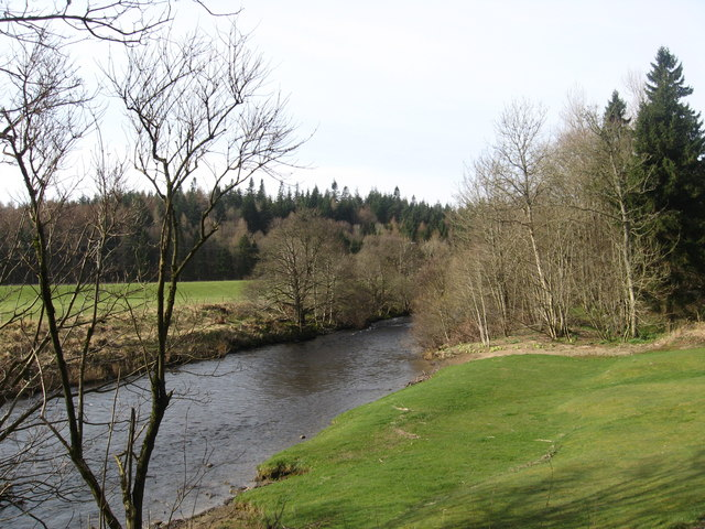 A view of the Ettrrick Water at Philiphaugh