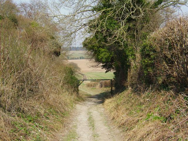 Footpath at Cheriton Battlefield