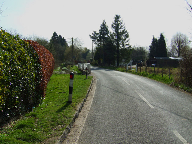 View towards the A272 from the B3046