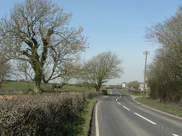 Crossroads on the B4265.
