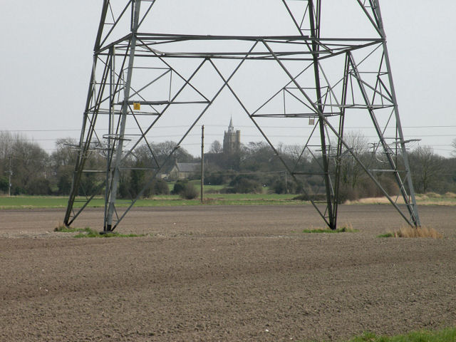 Framed view of Burwell parish church