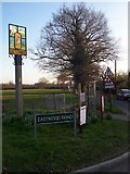 TQ8448 : Ulcombe Village Sign by David Anstiss