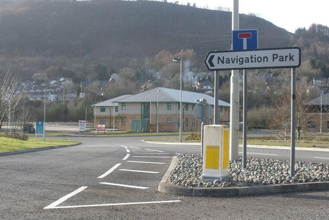 Entrance to Navigation Park, Abercynon