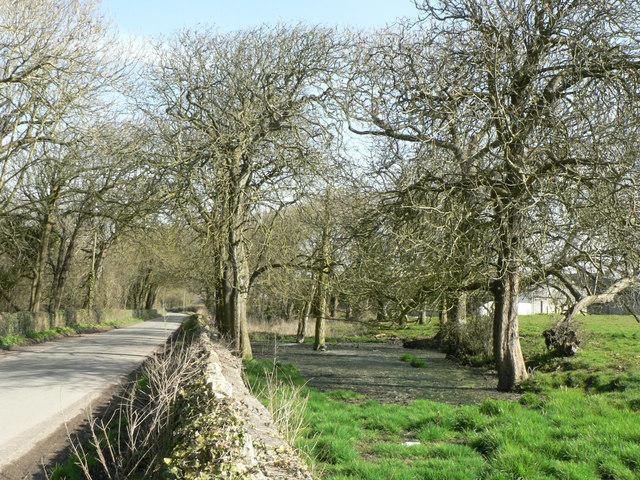 Approaching Somerset farm near St Donats.