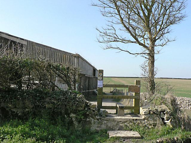 Stile on the Millennium Footpath to the cliffs at Parc Farm, St Donats.